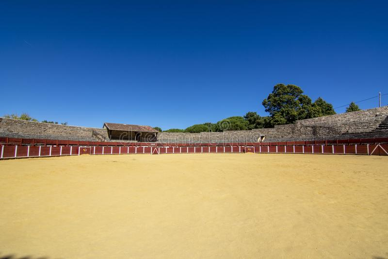 Parte da praça de touros na vila de Bejar em Salamanca, Espanha imagem de stock royalty free