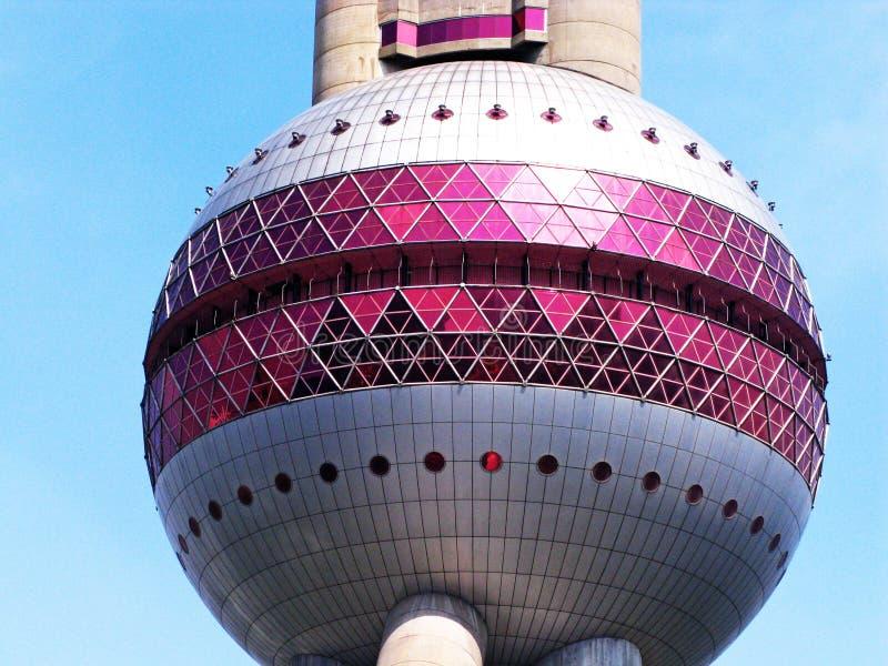 Parte da torre moderna da vista em Shanghai imagem de stock