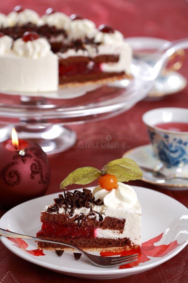 Download Parte de bolo foto de stock. Imagem de garnish, calorie - 12807194