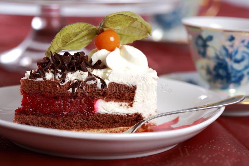 Download Parte de bolo imagem de stock. Imagem de chocolate, cuisine - 12807215