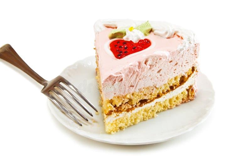 Parte de bolo fotografia de stock