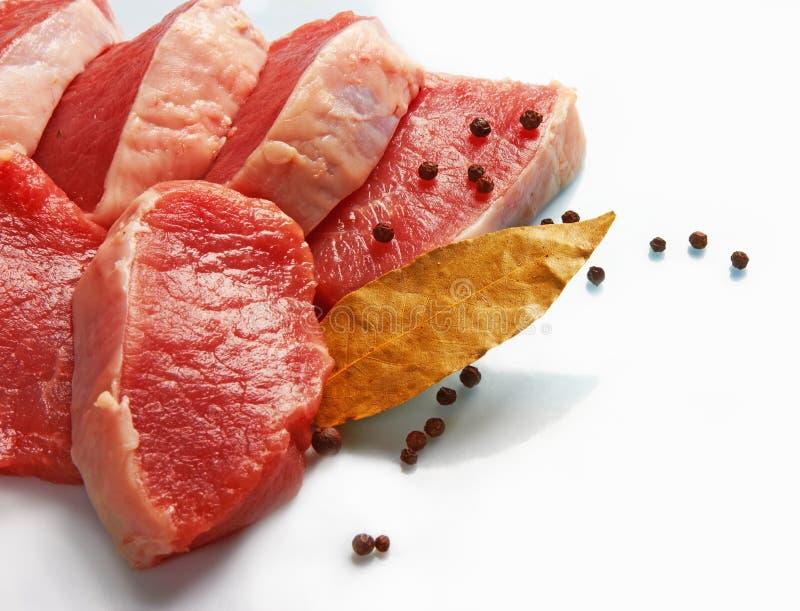 Parte de carne fresca crua imagem de stock