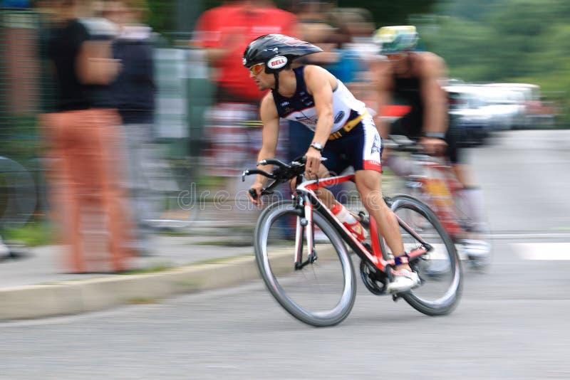 Parte de ciclo de triathlon de Praga imagen de archivo