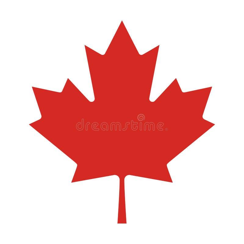 Parte de color verdadero de la bandera nacional de Canadá ilustración del vector