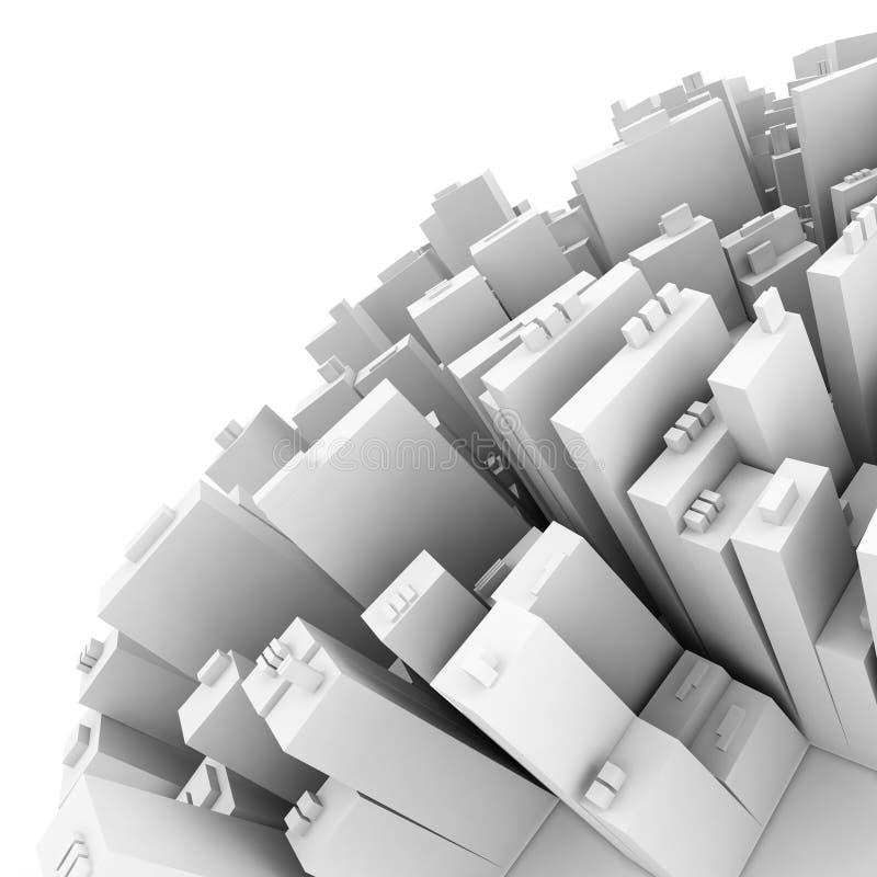 Parte de la ciudad ilustración del vector