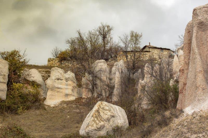 Parte de la composición gigante 'boda de piedra 'de la roca fotografía de archivo libre de regalías