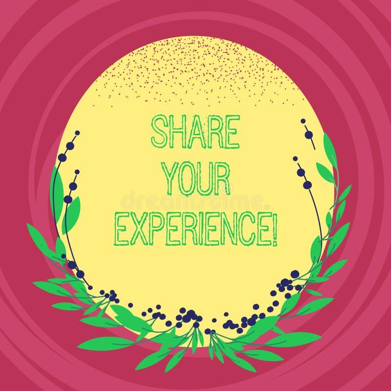 Parte de la demostración de la muestra del texto su experiencia Foto conceptual que habla de las habilidades que usted ha ganado  libre illustration