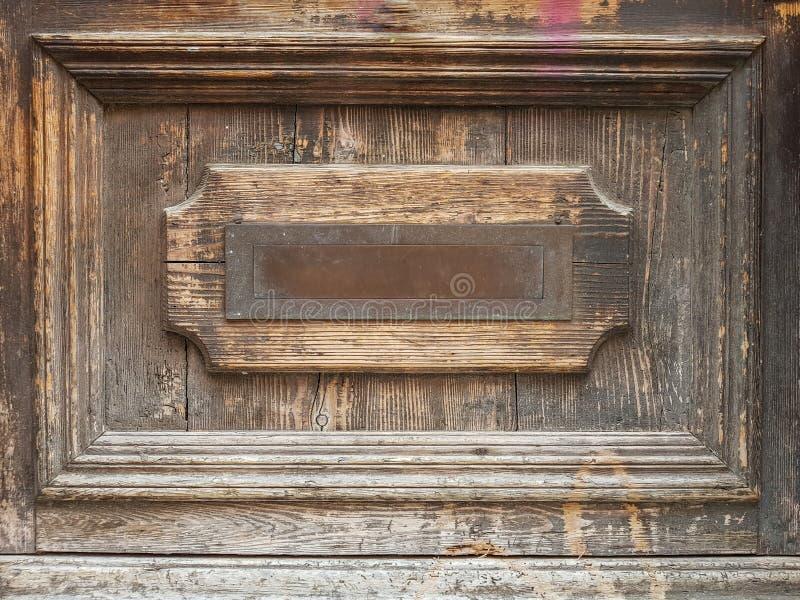Parte de la puerta antigua de madera fotos de archivo libres de regalías