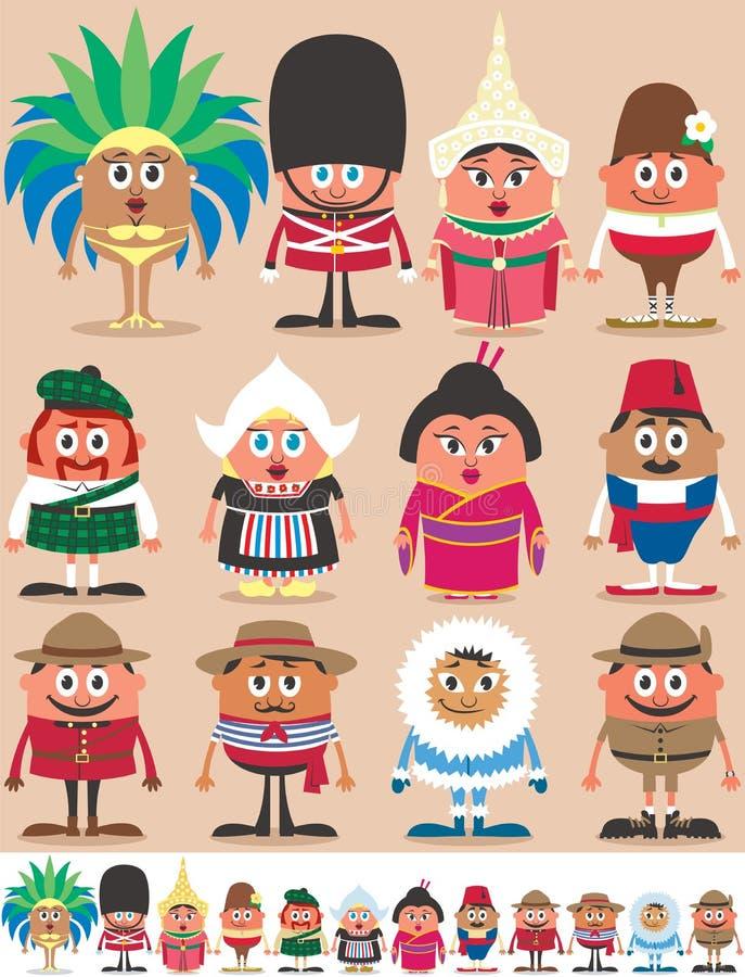 Parte 2 de las nacionalidades ilustración del vector