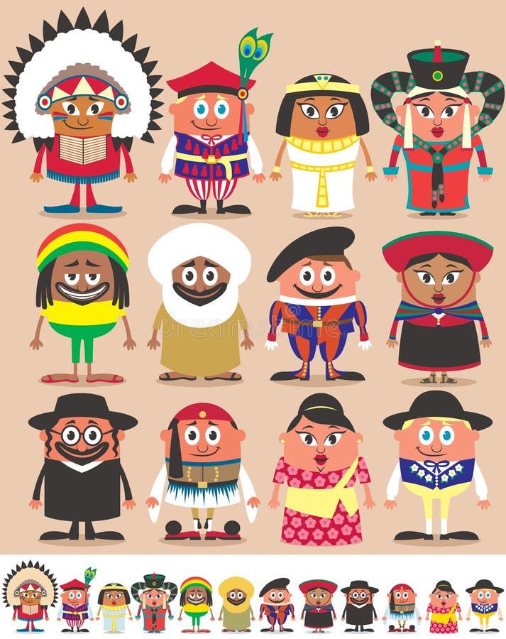 Parte 3 de las nacionalidades stock de ilustración
