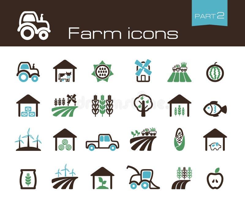 Parte 2 de los iconos de la granja ilustración del vector