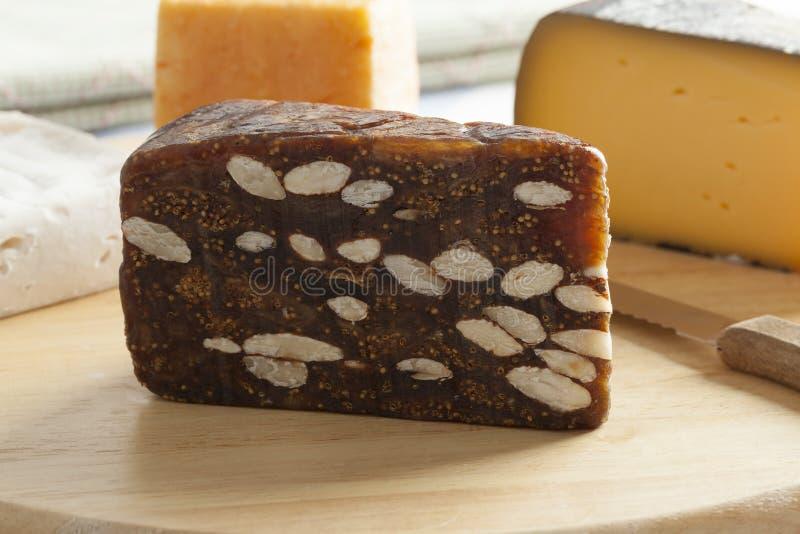 Parte de pão do figo imagem de stock