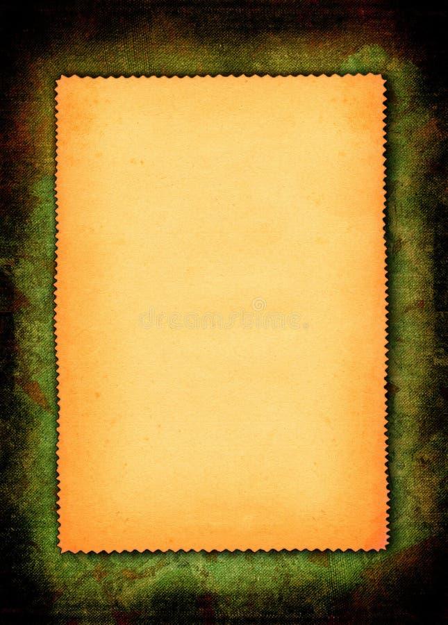 Parte de papel amarelado foto de stock
