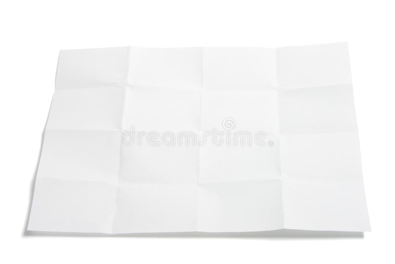 Parte de papel dobrado imagens de stock