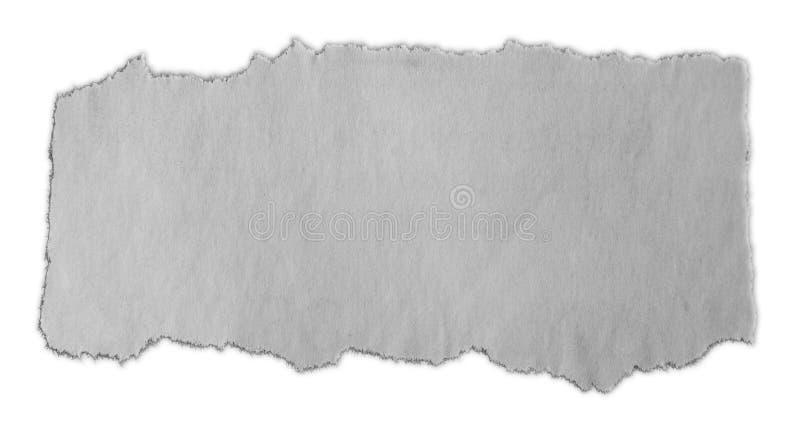 Parte de papel rasgada imagem de stock