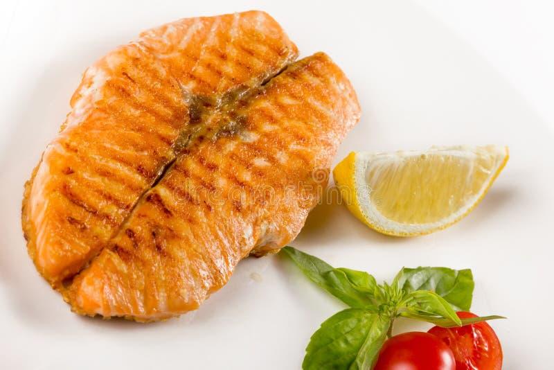 Parte de peixes suculenta fotografia de stock