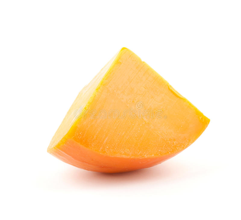Parte de queijo alaranjado fotos de stock royalty free