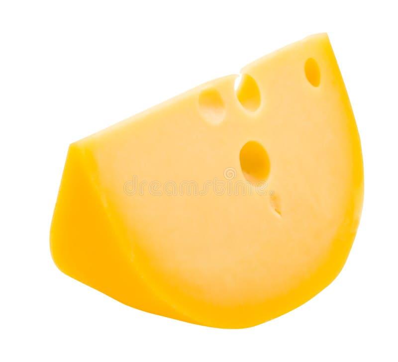 Parte de queijo isolada no branco imagem de stock
