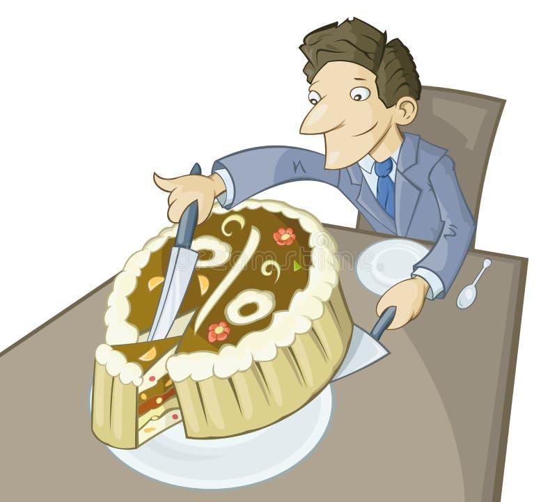 A parte de torta grande ilustração do vetor