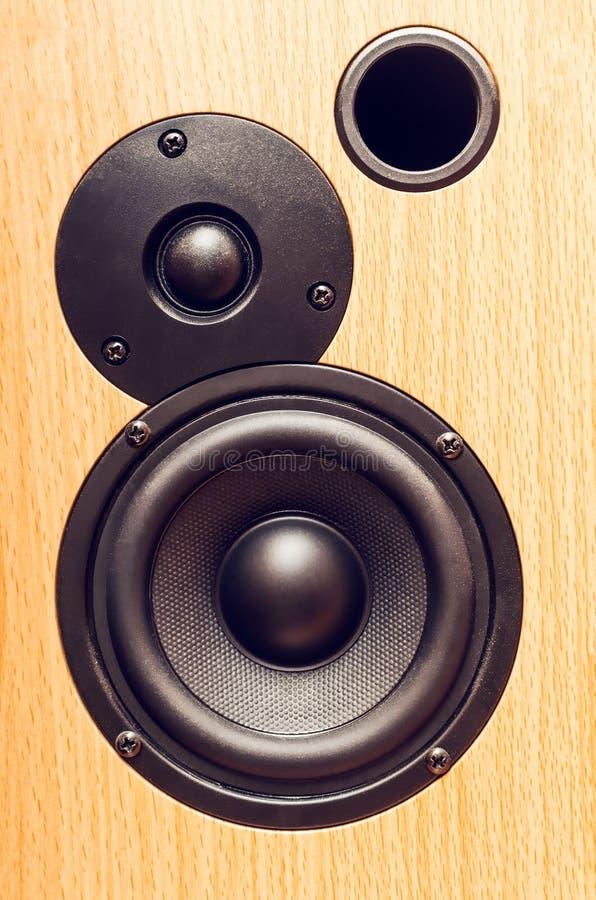 Parte de um close-up musical da coluna foto de stock