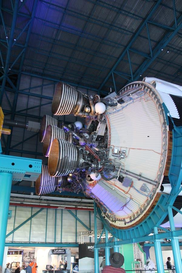 Parte de um foguete Saturn V imagem de stock