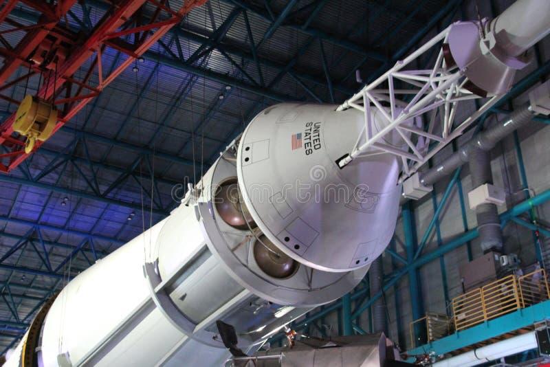 Parte de um foguete Saturn V imagens de stock