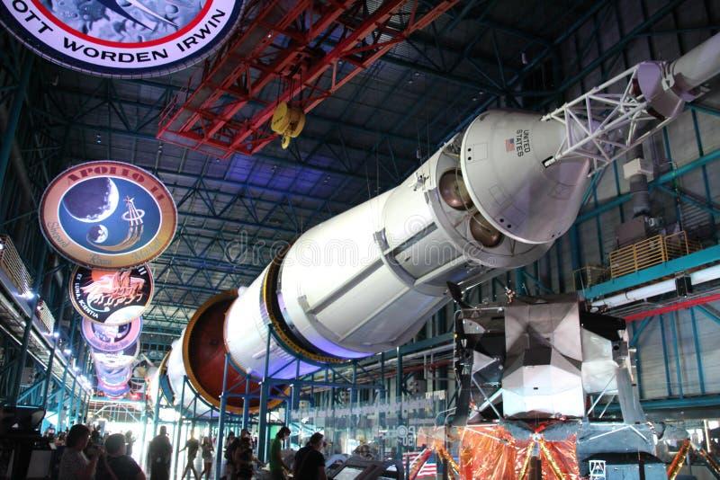 Parte de um foguete Saturn V fotos de stock