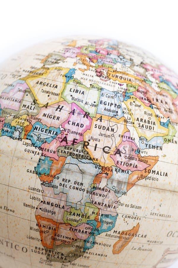 Parte de um globo da terra fotos de stock royalty free