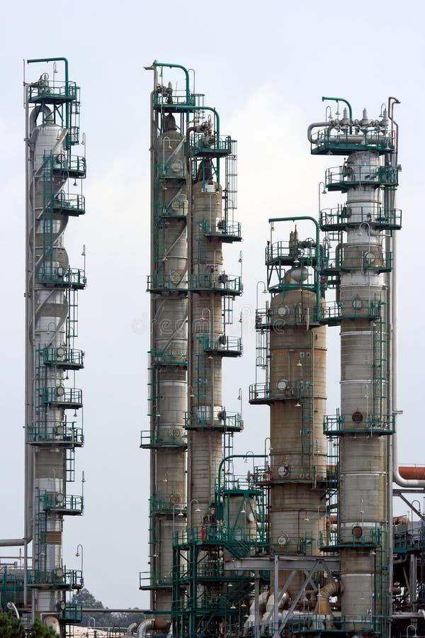 Parte de uma refinaria fotografia de stock