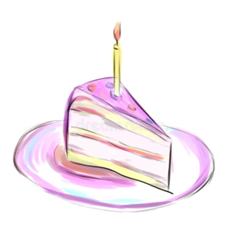 Parte de uma torta ilustração do vetor