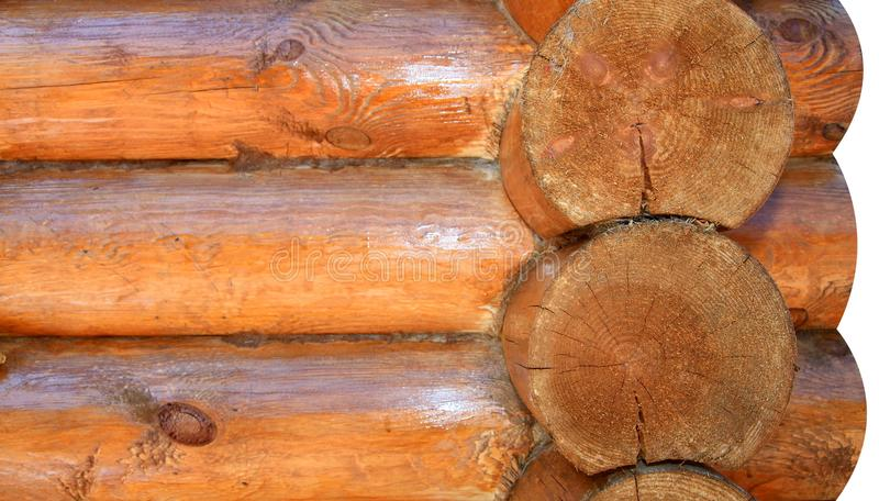 Parte de una casa de madera imagen de archivo libre de regalías