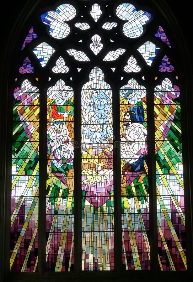 Parte de una ventana de la iglesia en la catedral Hobart, Tasmania de St David fotos de archivo