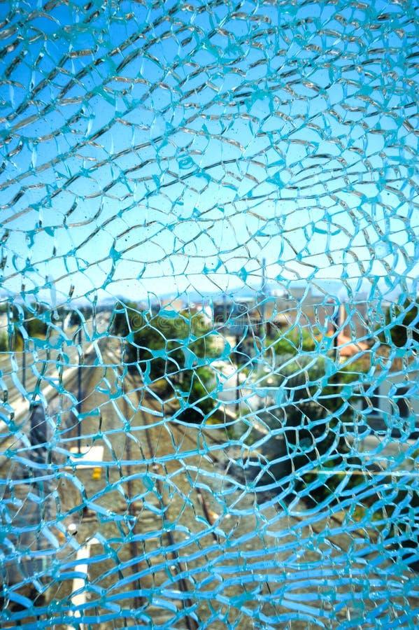 Parte de vidro esmagada fotografia de stock royalty free