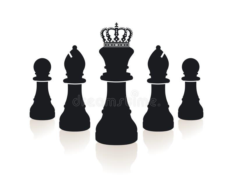 Parte de xadrez ilustração stock