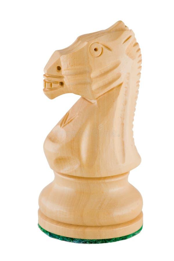 Parte de xadrez - cavaleiro branco imagens de stock