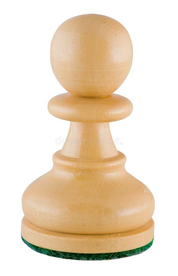 Parte de xadrez - penhor branco foto de stock royalty free