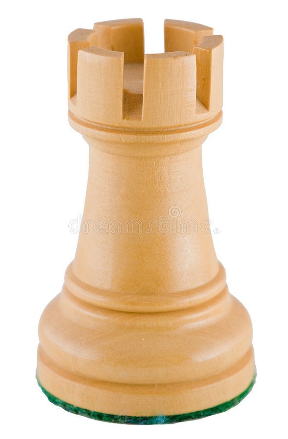 Parte de xadrez - rook branco fotos de stock royalty free