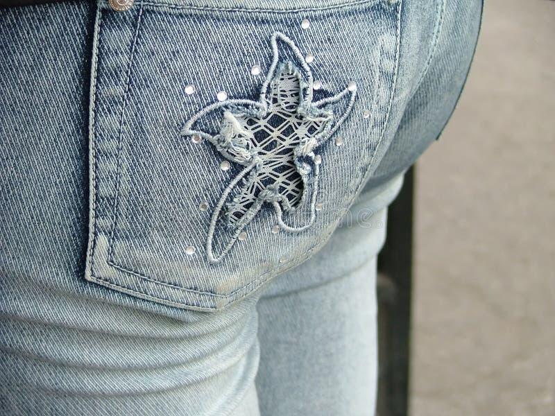 Parte dei jeans fotografie stock