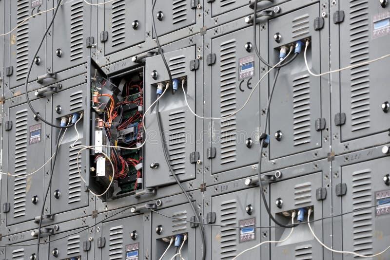 Parte dei pannelli digitali del LED fotografie stock