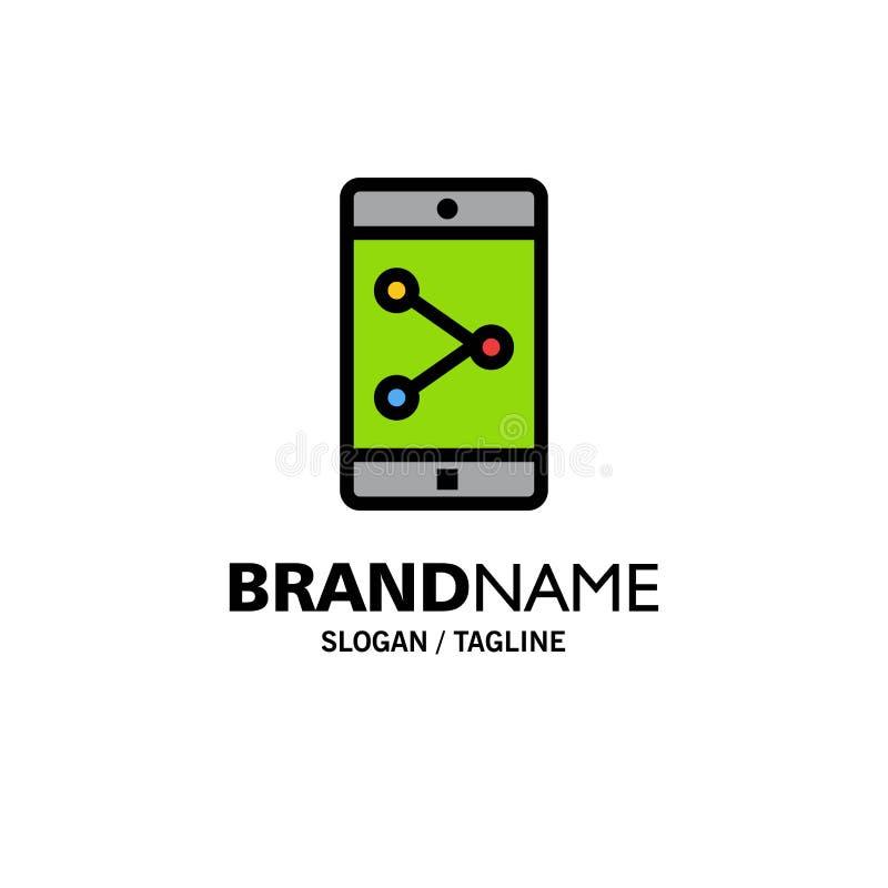 Parte del App, móvil, negocio Logo Template de la aplicación móvil color plano ilustración del vector