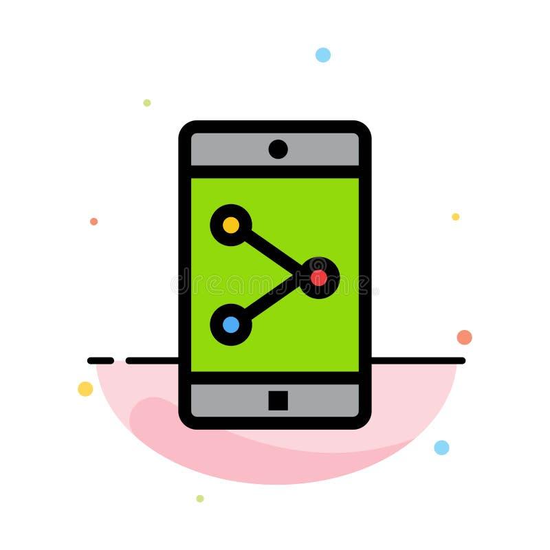 Parte del App, móvil, plantilla plana del icono del color del extracto de la aplicación móvil stock de ilustración