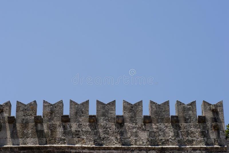 Parte del azul de cielo del castillo fotos de archivo