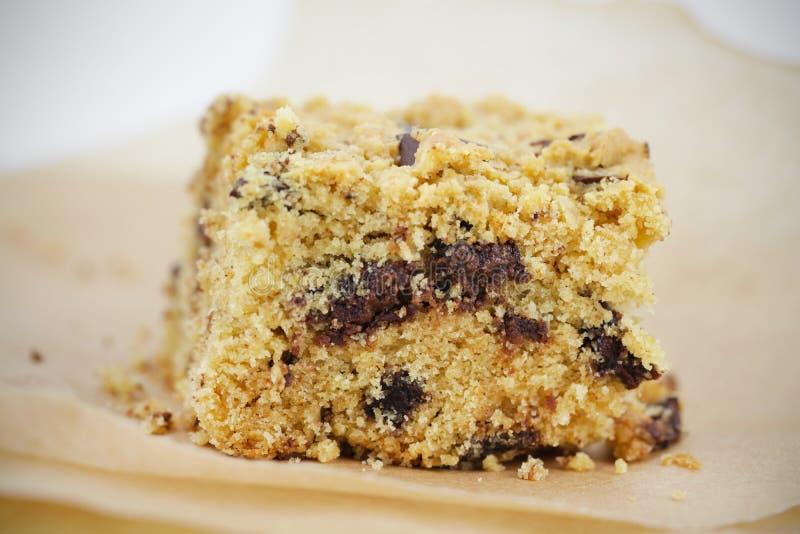 Parte del brownie della torta con cioccolato fotografia stock libera da diritti