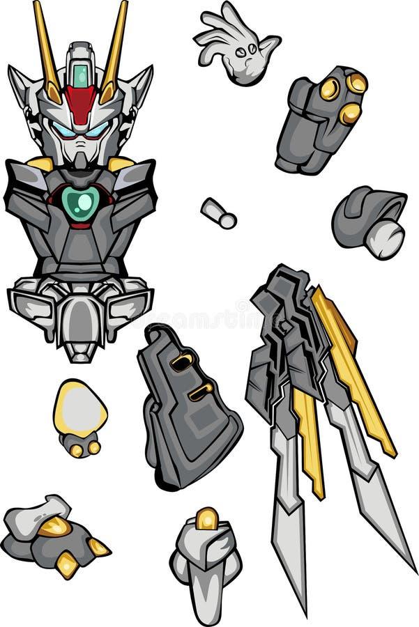 Parte del cuerpo del robo de G stock de ilustración