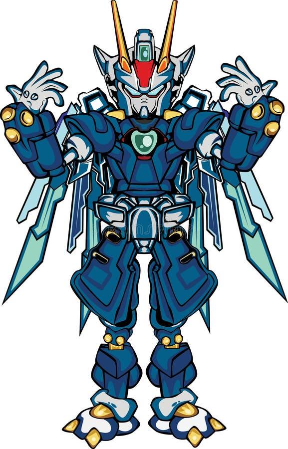 Parte del cuerpo del robo de G ilustración del vector