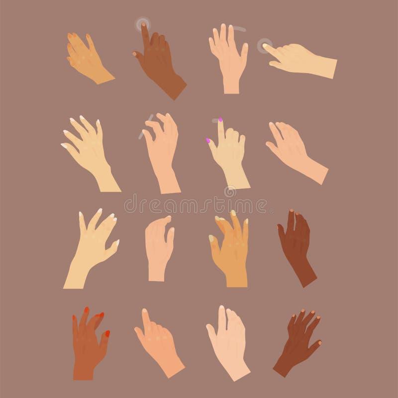 Parte del cuerpo humana del vector de la mano del botón del brazo del finger del control del empuje del indicador del cursor de l libre illustration