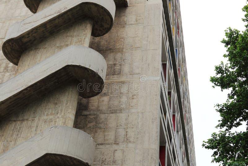 Parte del d'Habitation di unificazione in città francese di Marsiglia fotografia stock libera da diritti
