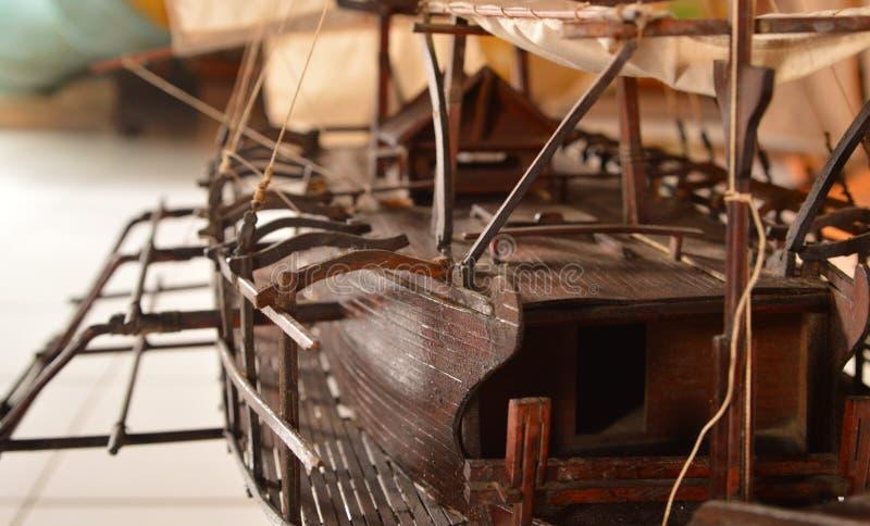 Parte del dettaglio di manifestazione della barca del miniatur immagine stock libera da diritti