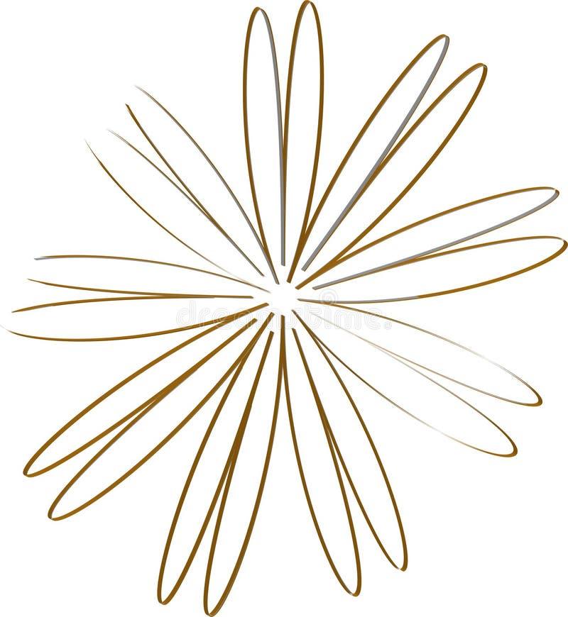 Parte del fiore illustrazione di stock