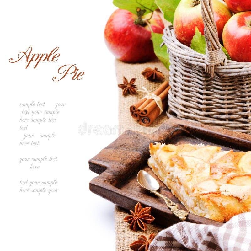 Parte del grafico a torta di mela casalingo fotografie stock libere da diritti